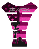 Fallen Soldier Pink Motorcycle Tank Pad Protector