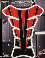 Razor Spear Red Black Motorcycle Tank Pad Protector