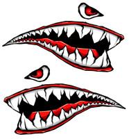 World War Fighter Tiger Shark Teeth Gel Side Body Kit