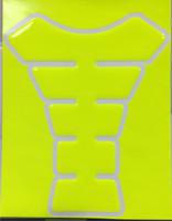 Neon Yellow Motorcycle Tank Pad Protector