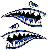 World War Fighter Tiger Shark Teeth Blue Gel Side Body Kit