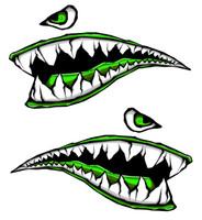 World War Fighter Tiger Shark Teeth Green Gel Side Body Kit