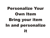 Personalize Your own Item
