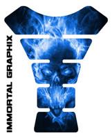 Exploding Skull Blue