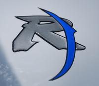Domed R1 symbol close up