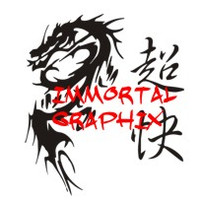 Dragon with Fast as Hell Kanji
