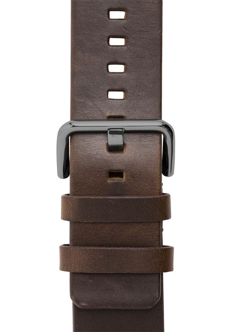 Xeric 24mm American Horween Dark Brown/Gun Leather Strap (XRC-SOLO-24-BRGN