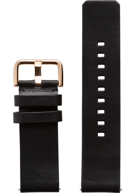 Xeric 24mm American Horween Black/Rose Gold Leather Strap (XRC-SOLO-24-BKRG)