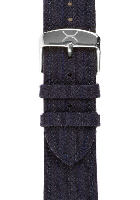 Xeric Savile Row 24mm Navy Classic Worsted (XRC-SRS-24-NVCW)