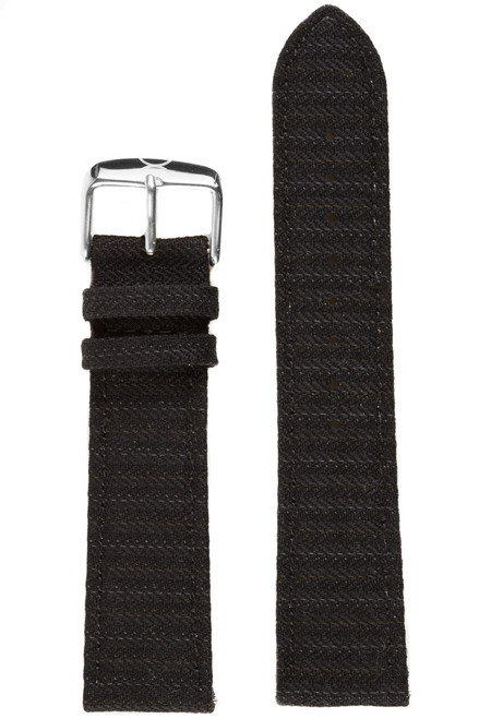 Xeric Savile Row 20mm Black Classic Worsted (XRC-SRS-20-BKCW)