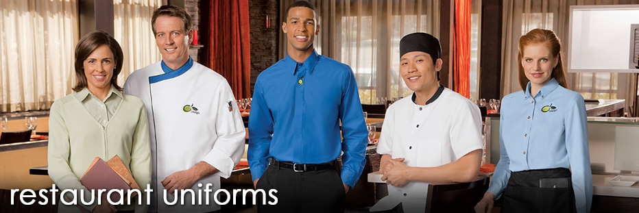 Buy restaurant uniforms that fit and perform. Waitress aprons, vests, waiter uniforms and restaurant shirts in easy care fabrics and new fitted styles.