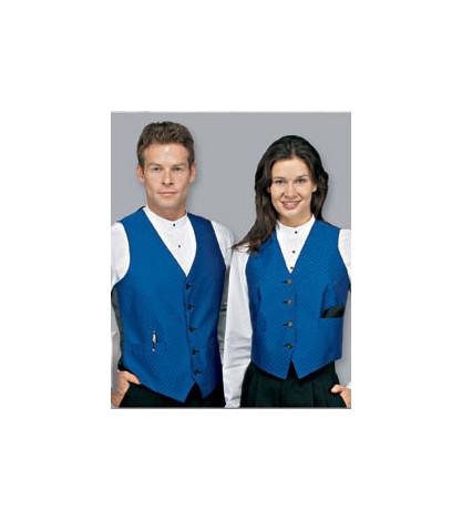 Sleek banded collar unisex tuxedo shirt