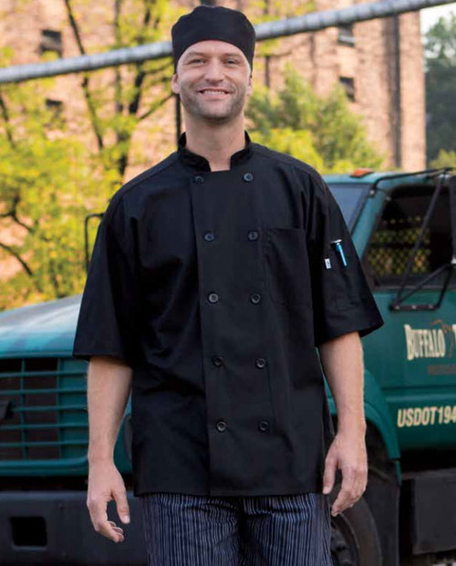 Durable chef coat in long or short sleeved
