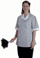 Double breasted housekeeping uniform tunic shirt