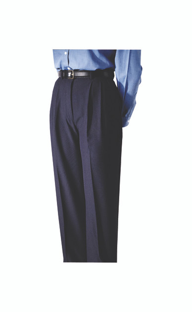 Pleated polyester uniform pants