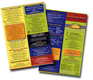 Colorful restaurant menus