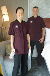 Black, brown, and merlot housekeeping tunic tops