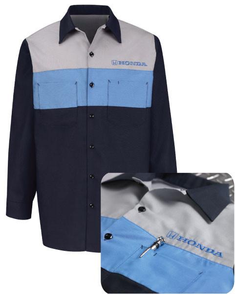 Honda automotive tech uniform shirt