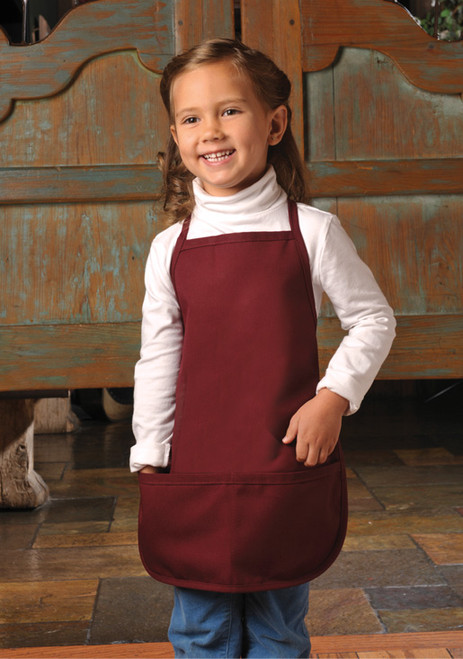 Bib apron for the little bakers includes pockets