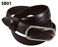 Brown women's leather belt