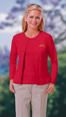 Long sleeved women's uniform cardigan