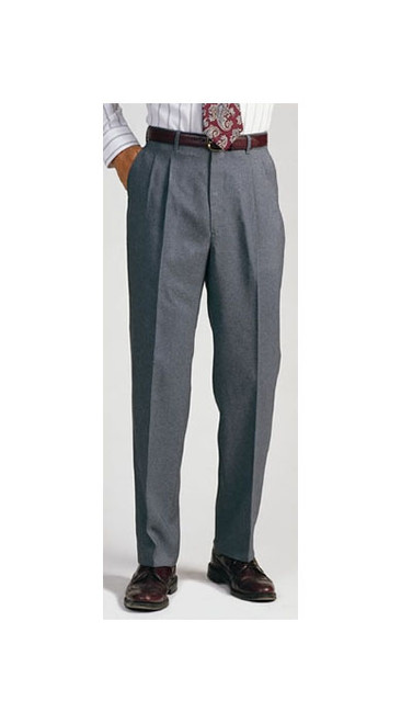 Pleated men's uniform pants