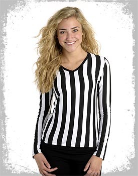 Long sleeve v-neck referee uniform shirt