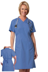 Scrub material dress for nurses