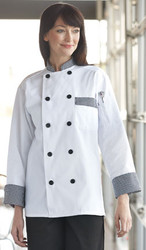 Chef coat with ten buttons