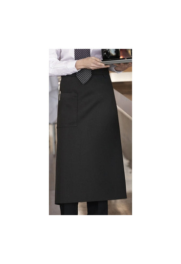 Bistro apron with one pocket