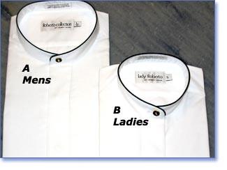 Dress shirt with a black trim