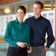 Wrinkle resistance and laundry friendly uniform shirt for men and women.