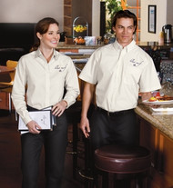 Wrinkle-resistant and stain resistant uniform shirt!