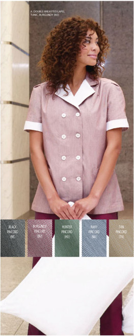 Double breasted house keeping tunic