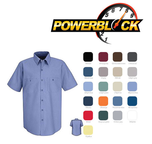Powerblock Singapore: Red Kap Short Sleeve Shirt