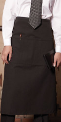 Full bistro apron is reversible to keep that clean look!