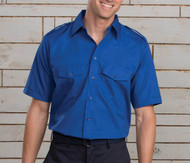 Blue safari uniform shirt