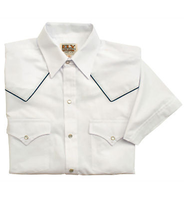 Piped western yoke short sleeved shirt for your steakhouse servers!