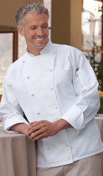 Double-breasted chef coat for your head cook