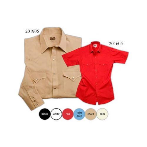 Embroider these short sleeved western themed tops