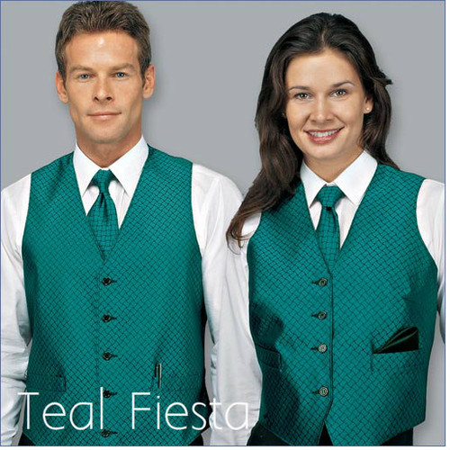 Bright and beautiful teal vest for men or women