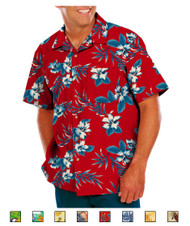 Camp shirts available in many tropic patterns