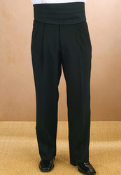 Men's pleated tuxedo pants
