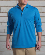 Stay dry and look classy in this long-sleeved polo