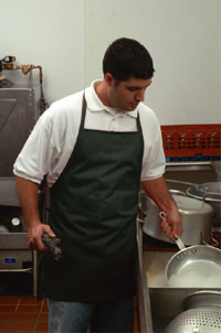 Watch the drops fall off this apron!