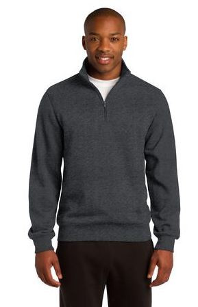 Get your custom logo on this 1/4 zip sweatshirt!