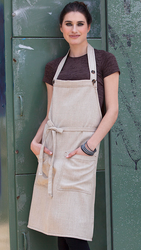 Soho Bib Apron Natural