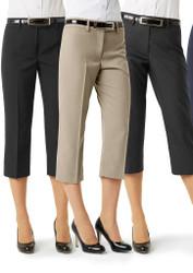 Black 3/4 length capri business pants