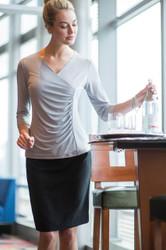 Dressy 3/4 Sleeve Uniform Blouse