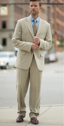 Our Intaglio men's suit coat in Vintage Khaki